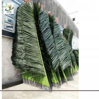 Wholesale UVG PTR015 2m Silk artificial palm tree leaves in plastic steel use for trunk decoration from china suppliers