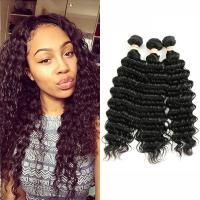 Wholesale No Smell 8A Peruvian Human Hair Weave Deep Wave Soft Curly Weave Hair from china suppliers