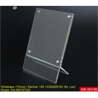Quality Mini Clear A Grade Acrylic Photo Frame / Picture Holder With Magnets for sale