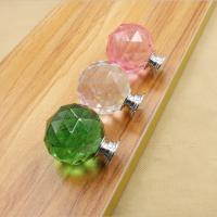 Wholesale Crystal Door Knobs Drawer Spherical Pulls Furniture Handles Hardware from china suppliers