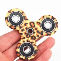 Quality New EDC Tri-Spinner Fidget Spinner Toys Camouflage Pattern Hand Spinner Plastic ADHD Adults Children Education for sale