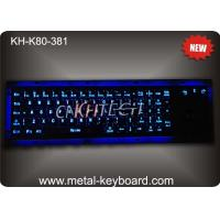 Wholesale Rugged Vandal resistant Backlit Metal keyboard with track ball , USB interface and 80 keys from china suppliers