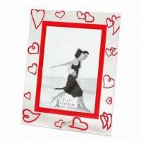 Wholesale Promotional Glass Photo Frame, Ideal for Friends and Wedding Anniversary Gifts from china suppliers