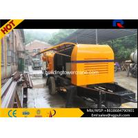 Wholesale Portable Concrete Stationary Pump  , Cement Mixer Trailer 0.6M3 Hopper Volume from china suppliers