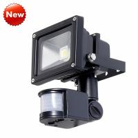 Wholesale IP65 Black 10W LED Flood Light With PIR Motion Detector from china suppliers
