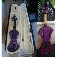 Wholesale Professional Purple Solid Basswood Electric Violins , Size 4/4 3/4 1/2 1/4 1/8 from china suppliers