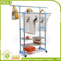Quality New Design Portable Stainless Steel Clothes Three Tier Dryer Rack for sale