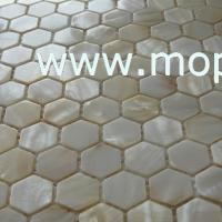 Wholesale White frehwater shell mosaic in hexagonal shape from china suppliers