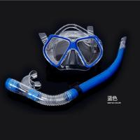 Wholesale blue Super cheap Rubber mask diving mirror snorkeling equipment Diving mirror and snorkel from china suppliers