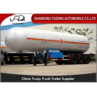 Wholesale 56000L LPG Tank Semi Trailer , 3 Axles 25 Tons Butane Fuel Transfer Trailer  from china suppliers