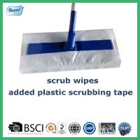 Buy cheap Mopping cloths with plastic scrubbing tape floor wipes from wholesalers