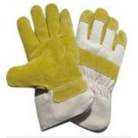 Wholesale white Yellow Working Pasted Cuff Pig Skin Leather Gloves with White Cotton from china suppliers