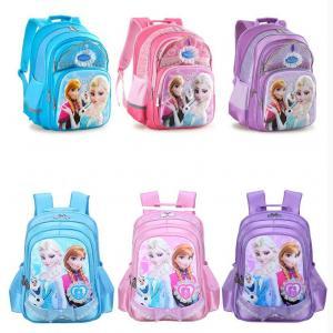 Wholesale Original Disney 5D Pink Girl Kid's Frozen Anna Elsa Princess School Bag Rucksack Backpack from china suppliers