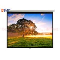 Buy cheap Matte White Manual Projection Projector Screen 100 Inch for Office / Home from wholesalers
