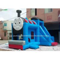 Wholesale Huge Outdoor Thomas Train Inflatable Bounce Houses With Slide Blue Color from china suppliers