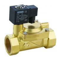 Wholesale Brass 3 Inch Solenoid Valve Low Power Slowly Heating Up For Water / Air / Steam / Oil from china suppliers