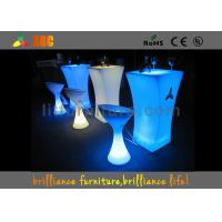 Wholesale Polyethylene LED Lighting Furniture / Cocktail table for party & exhibition from china suppliers