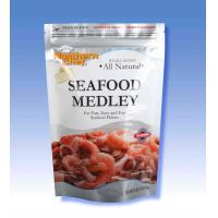 Wholesale Resealable Ziplock Stand Up Pouches Opaque Matte Varnishing For Seafood Packing from china suppliers
