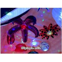 Wholesale 2m Hanging Toothed Inflatable Flower for Party, Exhibition and Event Decoration from china suppliers