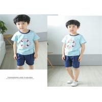 Korean Version Children's Style Clothing , Printed Striped Childrens Summer for sale