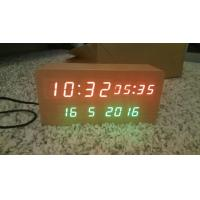 Wholesale wood alarm azan clock quran speaker on table clock inside 8GB TF card Arabic languages with IR control from china suppliers
