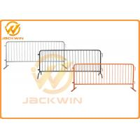 Wholesale Hot - Dipped Galvanised Flat Feet Traffic Metal Crowd Control Pedestrian Barrier from china suppliers