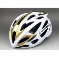 Wholesale White Golden SV666 PC Inmould Bicycle Helmet , Double Shell , Super Light , CE Certified from china suppliers