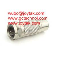 Wholesale Coaxial Adapter Coaxial Adaptor RCA Female To F Male Connector CCTV Antenna / RCAF.FM.01 from china suppliers