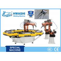 Wholesale HWASHI Six Axis MIG Industrial Welding Robot for Storage Wire Shelf Corner from china suppliers