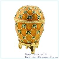Wholesale egg white cream jewelry box, Ivory trinket box shop online SCJ 1063 from china suppliers