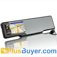 Wholesale Bluetooth Car Rearview Mirror Kit (Dash Cam + GPS + Rearview Camera + FM Transmitter) from china suppliers