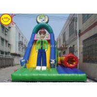 Wholesale Multicolor PVC Inflatable Combo Cartoon Man Slide With Tunnel 12*5*8mH from china suppliers