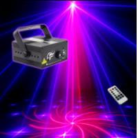 Wholesale 18 Gobos Red+Blue Mini Laser Lights Projector with Blue LED (2 holes) from china suppliers