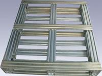 Wholesale Industrial Returnable Storage Galvanized Steel Pallets Single Face Or Double Face from china suppliers