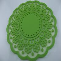 Quality Anti-dust & impermeable OEM / ODM customed design flower shaped silicone heat resistant mat / pad for sale