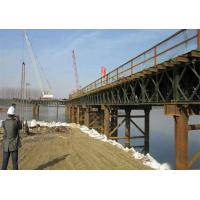 Wholesale Rapid - Build GB450 Steel Frame Bridge , Deck Truss Bridge With Interchangeable Components from china suppliers
