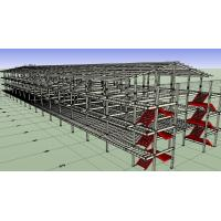 Buy cheap Prefabricated Light Workshop Steel Structure For 4 Storey Dormitory from wholesalers