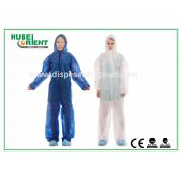 Wholesale Nonwoven White Disposable Overalls PP / SMS / PP + PE Protective Coverall With Hood from china suppliers