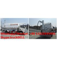 Buy cheap 2018s cheapest price dongfeng 4*2 LHD hydraulic system discharging bulk feed truck for sale, chicken pellet truck from wholesalers