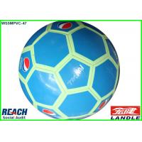 Wholesale Custom Printing PVC Leather Football Soccer Ball Light In Dark Machine Stitched Footballs from china suppliers