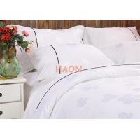 Wholesale Egyptian Cotton White Hotel Bed Linens , Jacquard Hotel Bedding Sets from china suppliers