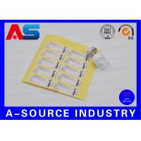 Buy cheap Adhesive Anti-Fake Paper 2ml Stickers For Somatropin DNA Origin Sterial Water Injection Vials from wholesalers