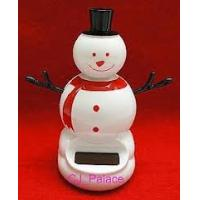 Wholesale car toys Creative Solar Power Dancing Flower Flip flap snowman for Car/home gift from china suppliers