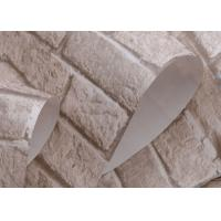 Removable 3d brick effect wallpaper embossed faux brick for 3d brick wall covering