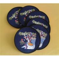 Wholesale Deluxe embroidered cloth coasters for table decoration, luxury embroidered cotton coaster, from china suppliers