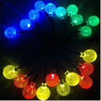 Buy cheap 20LED Solar Bubble Ball String Light Outdoor Garden LED Lamps Solar Power Panel Christmas Party Festival Decoration LED from wholesalers