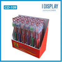 Buy cheap toothpaste cardboard advertising display counter from wholesalers