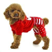 Wholesale Christmas clothes for dog fleece dog apparel from china suppliers