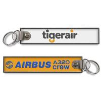 Wholesale Tigerair Airbus A320 Crew Baggage Fabric Key Chain Aviation Tags from china suppliers