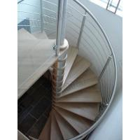 Wholesale stainless steel round bar timber oak trade best-selling spiral staircase from china suppliers
